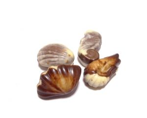 seashell-shaped Belgian chocolates
